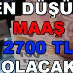 Asgari ücretlinin eline 2.700 TL. geçecek
